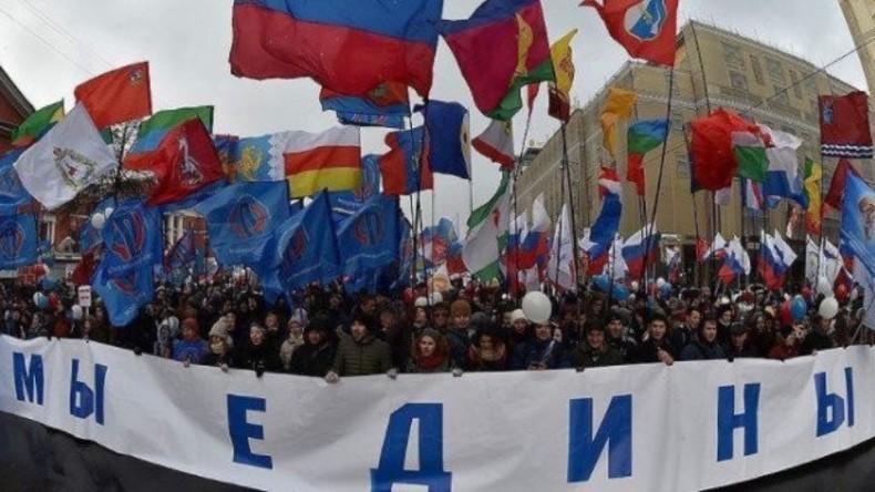Russland feiert Tag der Volkseinheit