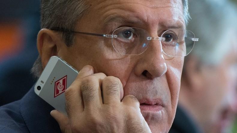 Kerry und Lawrow in Messenger-Stickersammlung verewigt