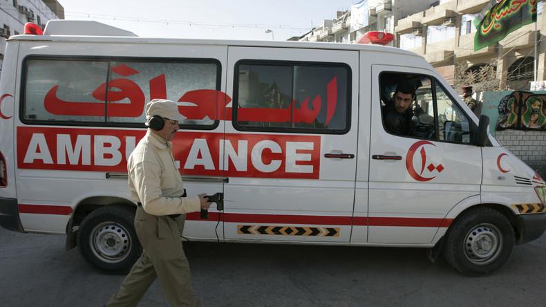 Irak: Ein mit Sprengstoff beladener Rettungswagen reißt neun Menschen in den Tod