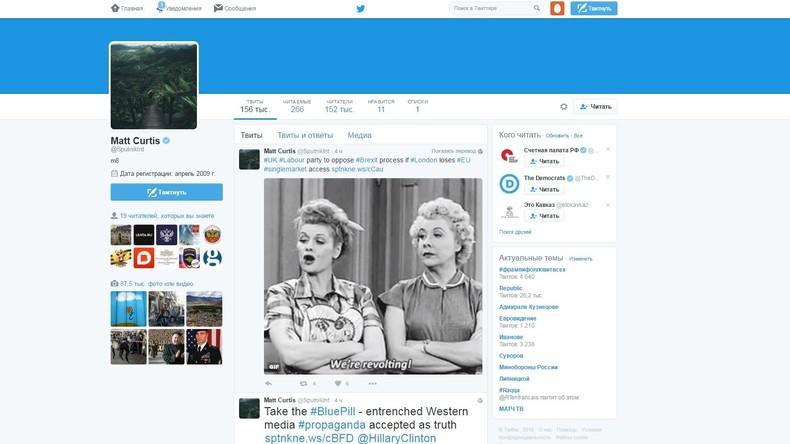 """Unbekannte hacken Twitter-Account von """"Sputnik"""""""