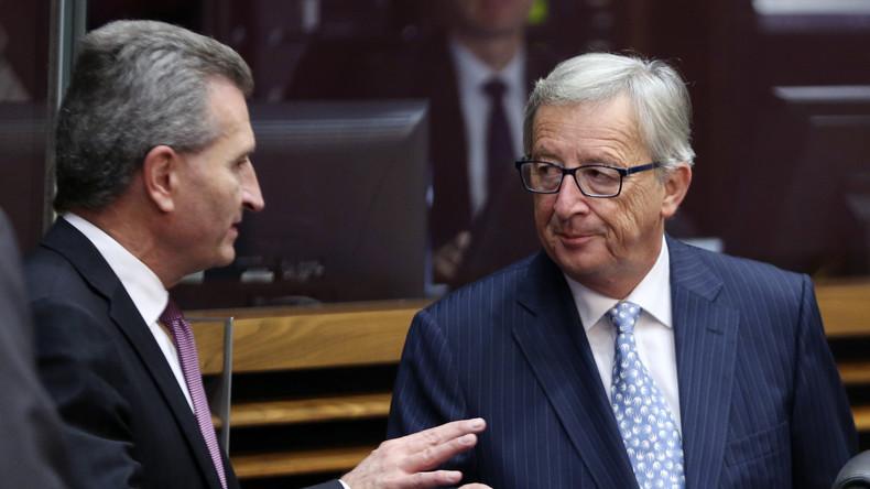 Sechs, setzen: Jean-Claude Juncker tadelt Günther Oettinger
