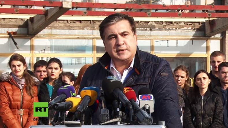 Saakaschwili gibt Rücktritt bekannt: Poroschenko hat mörderischen Verbrecher-Clans die Macht gegeben
