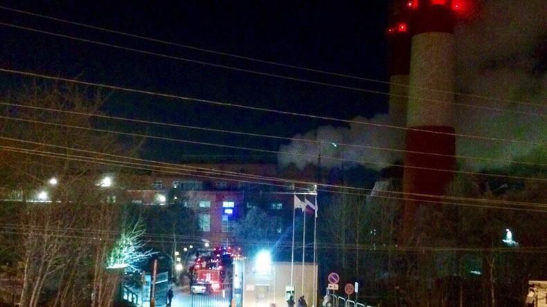 Großbrand in Wärmekraftwerk zu Murmansk