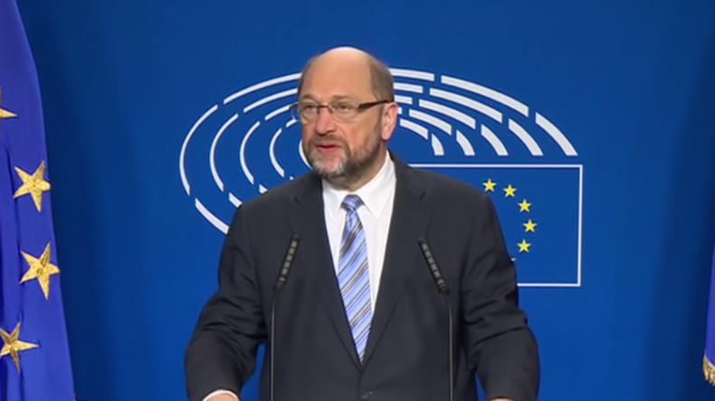 Live: Präsident des EU-Parlaments Martin Schulz gibt Statement nach Trumps Sieg bei US-Wahlen