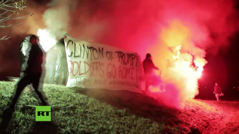 Protest in Italien: Ob nun Clinton oder Trump, Hauptsache die USA ziehen ihr Militär ab