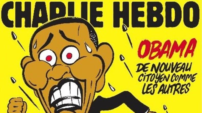 Charlie Hebdo: Auf Titelseite flieht Obama vor Polizisten