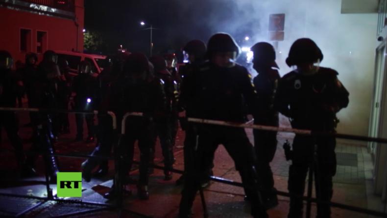 Thügida-Marsch in Jena: Gegendemonstranten attackieren Polizisten