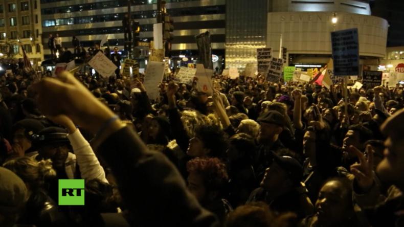 Die USA nach den Wahlen: Massive Anti-Trump-Proteste in vielen Städten