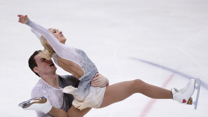 Deutscher Eiskunstlauf-Star Aljona Savchenko zu Gast in Moskau