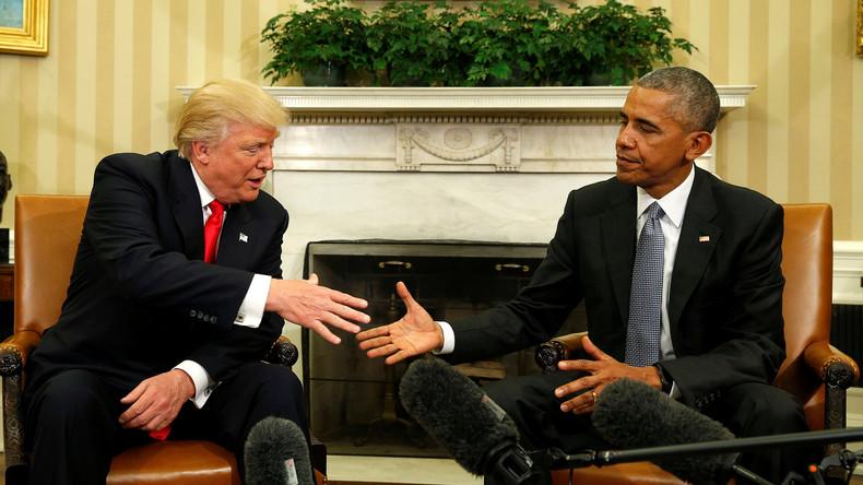 """Trump: """"Ich werde auch in Zukunft Rat von Obama annehmen"""""""