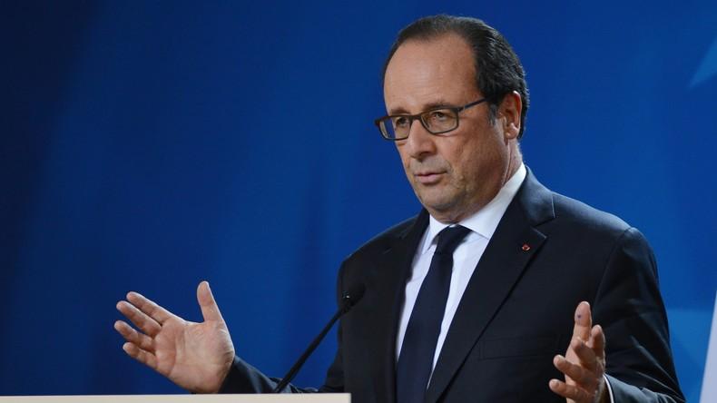 Frankreich: Resolutionsprojekt zur Amtsenthebung von Hollande beim Élysée-Palast eingereicht