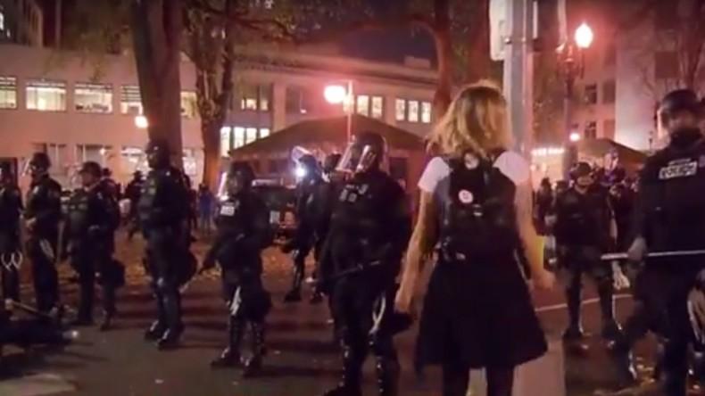 Anti-Trump-Proteste hören nicht auf: Ausschreitungen in Portland schlagen in Gewalt um