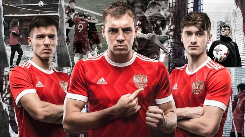 Adidas stellt neues Trikot für russische Fußballspieler vor