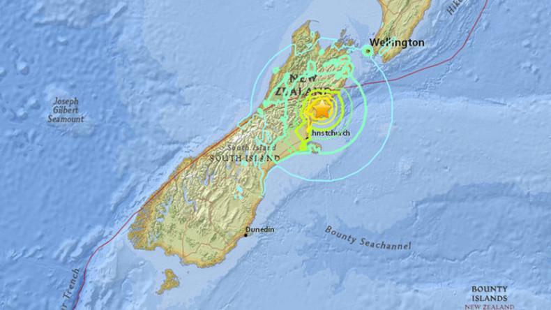 Erdbeben der Stärke 7,8 erschüttert Neuseeland