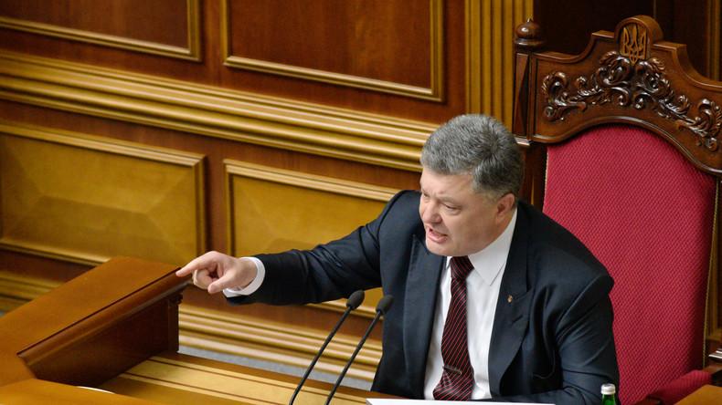 """Poroschenko bittet Trump um Beistand gegen """"russische Aggression"""""""