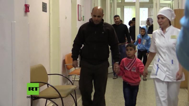 Schwerkranke Kinder aus Syrien erhalten nun in Russland medizinische Versorgung