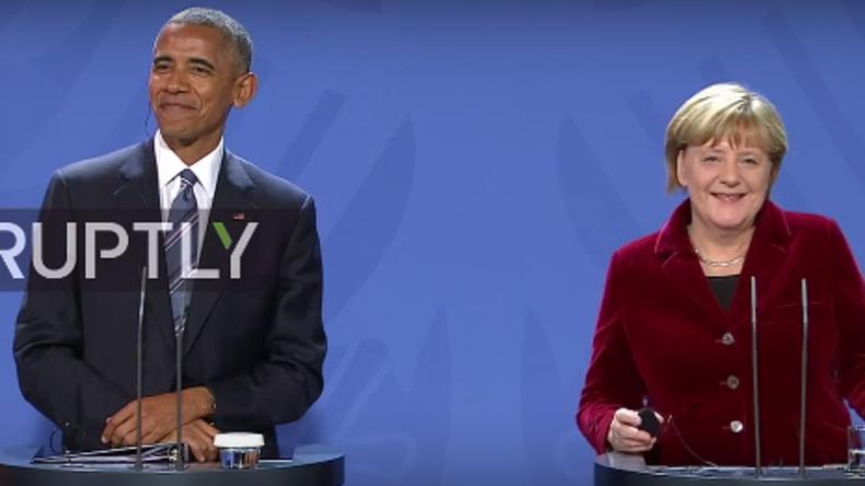 Pressekonferenz in Berlin: Obama würde Merkel bei Bundestagswahl unterstützen