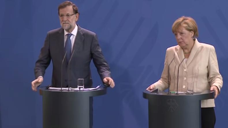 Live: Bundeskanzlerin Merkel und spanischer Ministerpräsident Rajoy geben gemeinsame Pressekonferenz