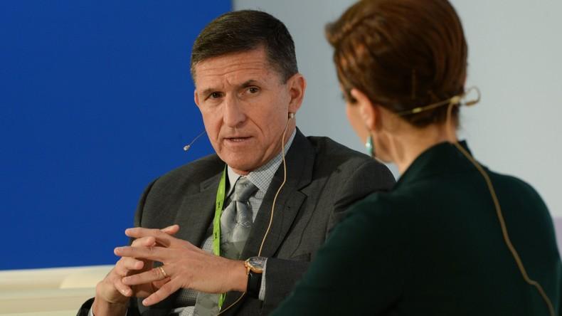 Michael Flynn, ehemaliger Chef des Geheimdienstes des amerikanischen Militärs, der Defense Intelligence Agency (DIA), auf einer RT-Konferenz im Oktober 2015.