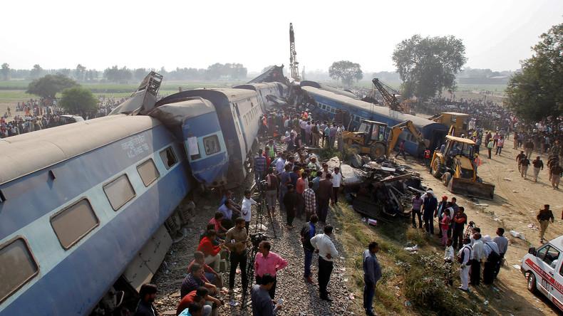 Zugunglück in Indien: Die Zahl der Toten steigt auf 120