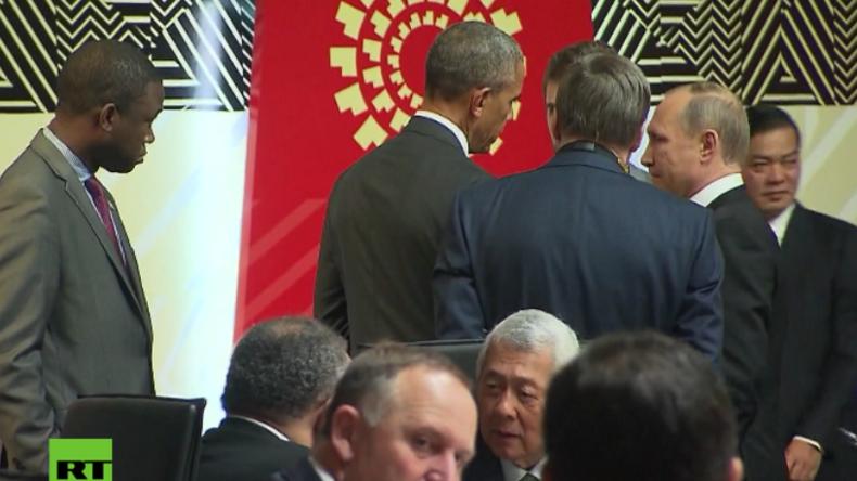 Eisige Blicke: Putin und Obama treffen in Lima beim Pazifik-Gipfel aufeinander