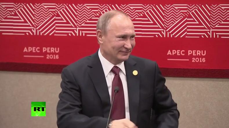 """Putin zu peruanischem Präsidenten: """"Wir können auch Deutsch sprechen"""""""