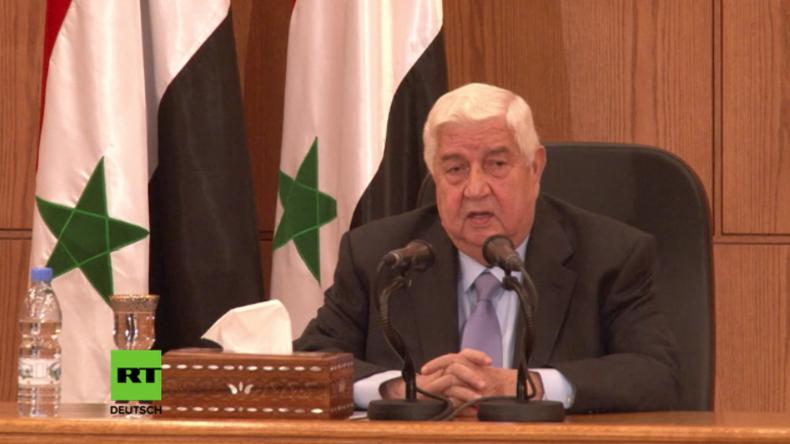 Syrischer Außenminister zu UN-Vorschlag: Autonomiestatus für Terroristen in Ost-Aleppo inakzeptabel