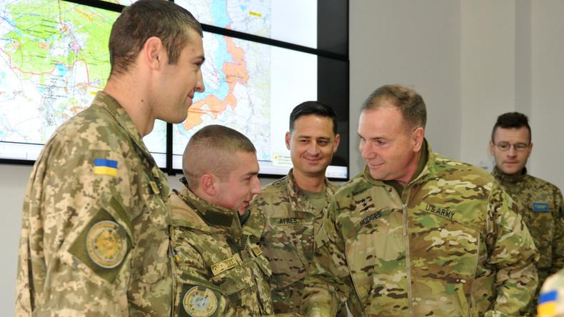 US-Spezialeinheiten trainieren ukrainische Soldaten im Beschuss gegnerischer Stellungen