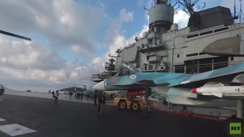 """Admiral Kuznetsow"" 360°: Spektakuläre Aussicht an Bord des russischen Flugzeugträgers vor Syrien"