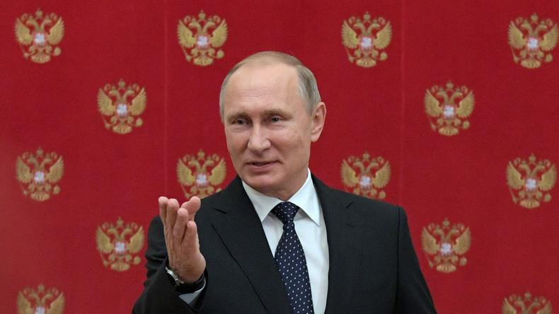Putin gratuliert RT und Sputnik zur Anti-Propaganda-Resolution