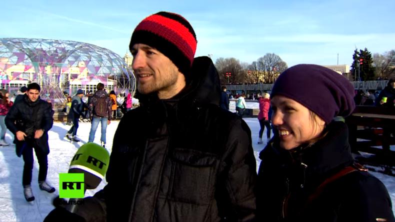 Winter in Moskau: Die Eislaufsaison hat begonnen