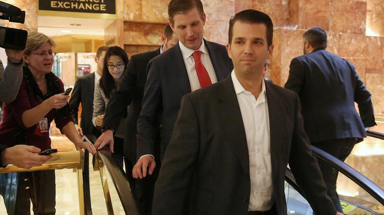 Donald Trump junior verhandelt mit Unterstützern der Zusammenarbeit mit Russland