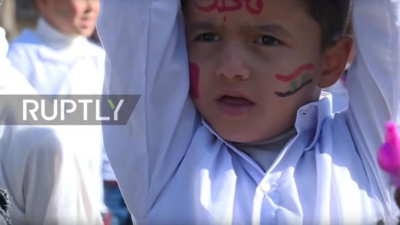 Aleppo: Kinder protestieren gegen Krieg