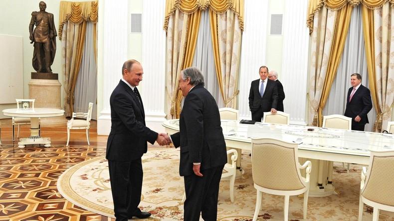 Zukünftiger UN-Generalsekretär Guterres freut sich auf gute und effektive Beziehungen mit Russland