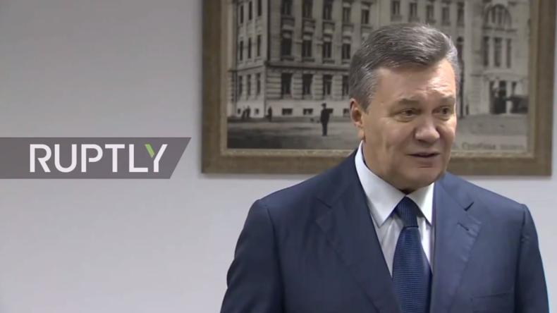 """Live: """"Maidan-Schüsse"""" - Ausführliche Pressekonferenz vom gestürzten Präsidenten Janukowitsch"""
