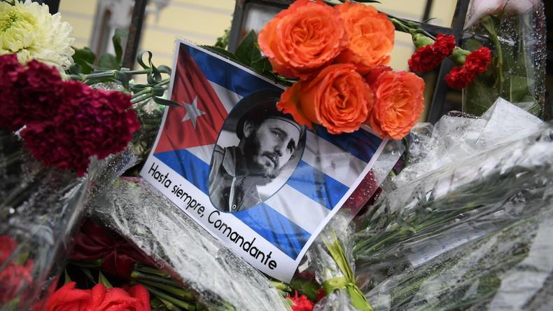Tod Fidel Castros: Botschaft von Kuba in Russland legt Kondolenzbuch aus