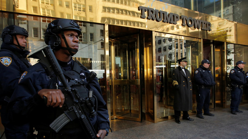 """Trump Tower wird für einige Stunden zu """"Müll-Turm"""""""