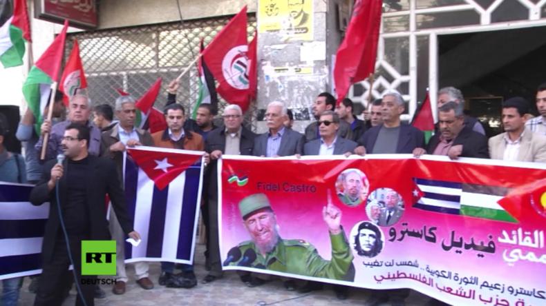 Gaza: Palästinenser veranstalten Trauerkundgebung für Fidel Castro