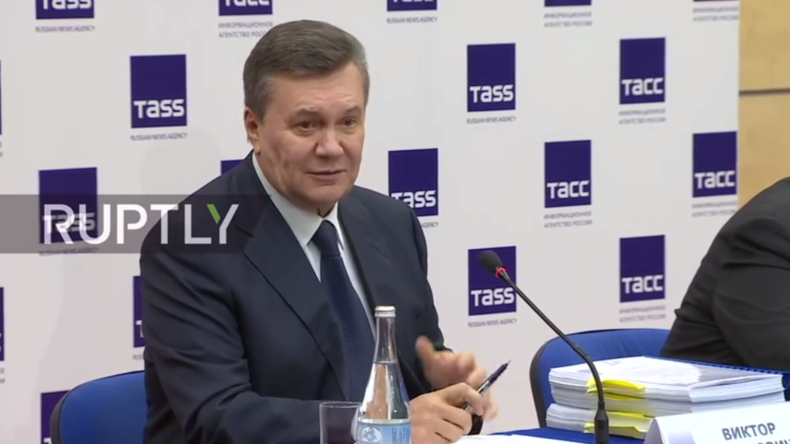 """Live: """"Maidan-Schüsse waren verdeckte Operation"""" – Janukowitsch gibt erneut Pressekonferenz"""