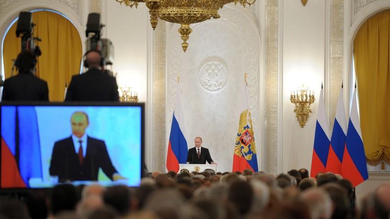 Heute live um 10 Uhr: Putins jährliche Ansprache vor der Föderalen Versammlung - auf Deutsch