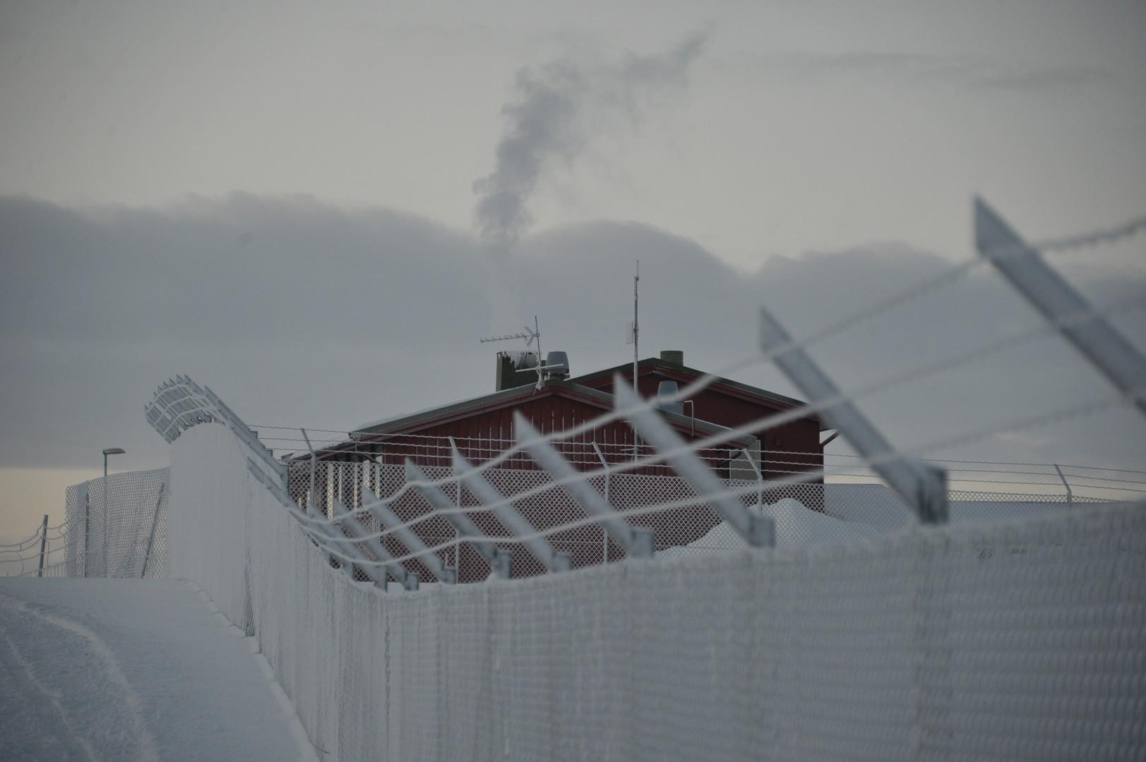 Ein Flüchtlingslager in der Nähe des norwegischen Kirkenes an der Grenze zu Russland