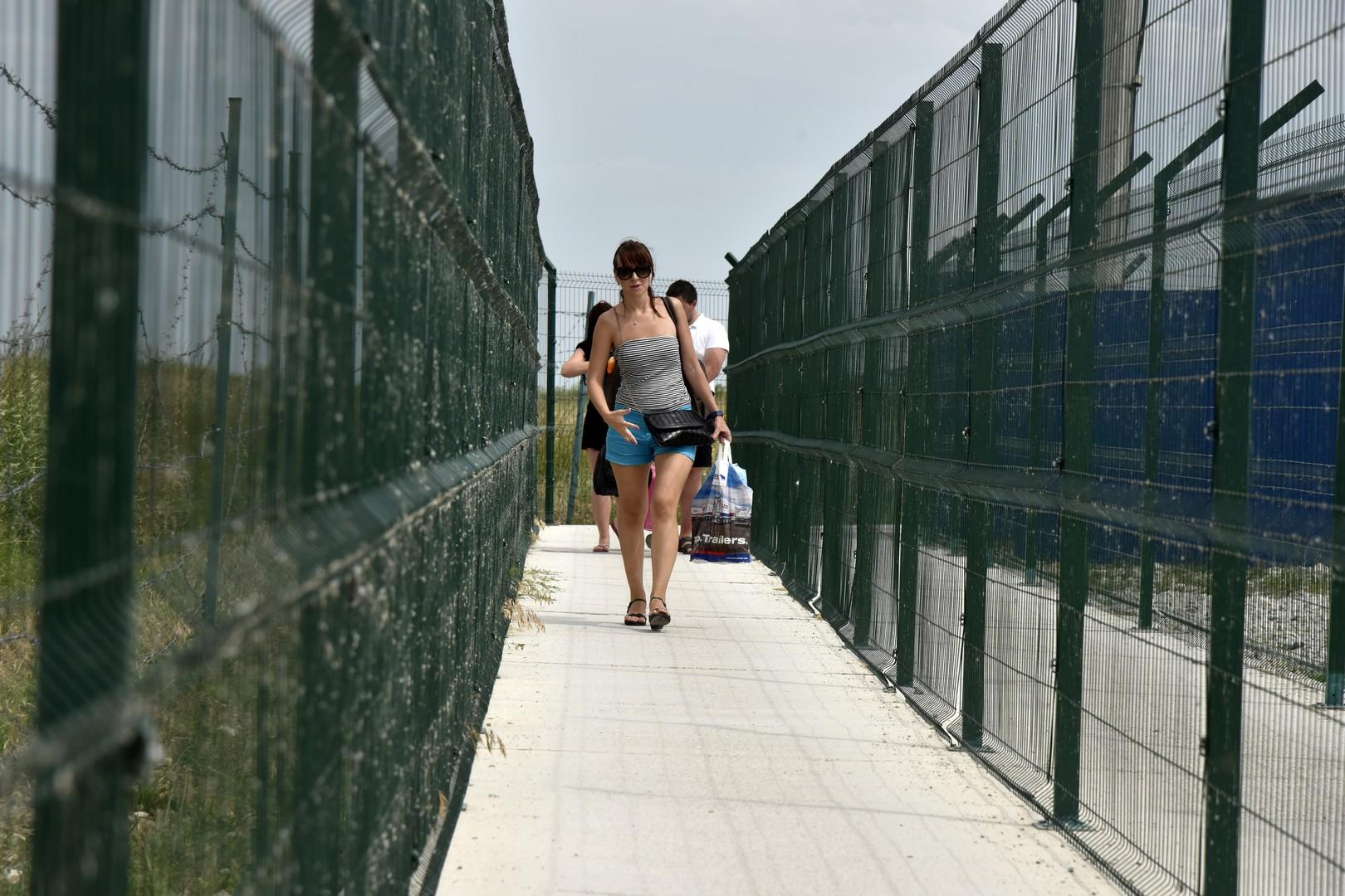 """Der Checkpoint """"Dschankoj"""" auf der Schwarzmeer-Halbinsel Krim"""