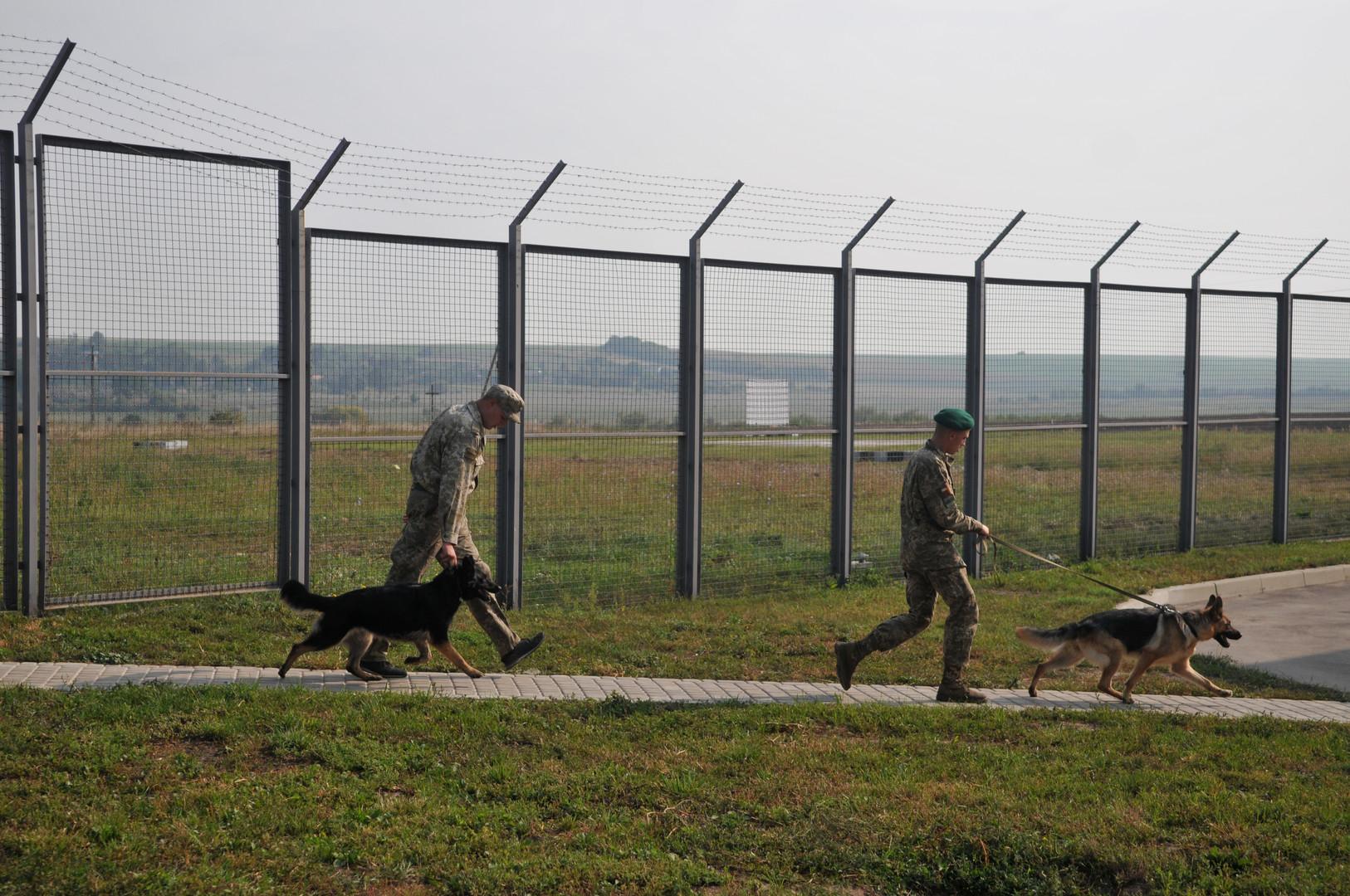 """Die Grenzschutzabteilung """"Pawlowitschi"""" an der ukrainisch-polnischen Grenze"""