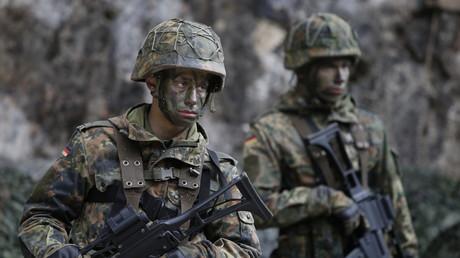 Bundeswehrsoldaten bei einer Übung.