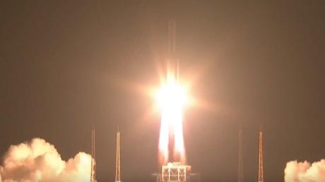 Chinas stärkste Trägerrakete ins All gestartet
