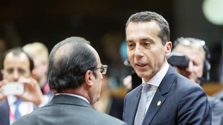 Österreichs Bundeskanzler Christian Kern zu Ankara: