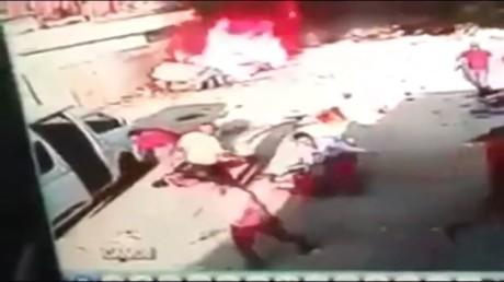 Steckt hinter dem Video aus Bagdad tatsächlich eine besonders stümperhaft ausgeführte False-Flag-Aktion?  Bildquelle: Screenshot YouTube