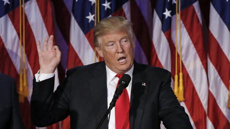 Der künftige US-Präsident Donald Trump bei seiner Siegesrede.