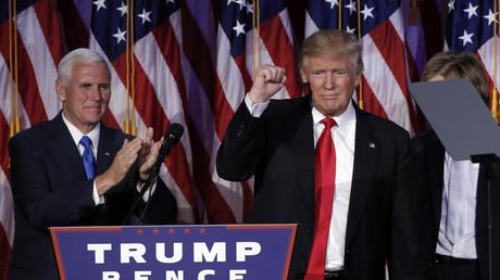 Donald Trump bei seiner Siegesrede nach seiner Wahl zum neuen US-Präsidenten.