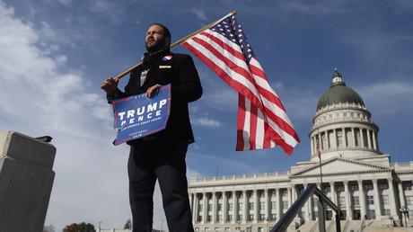Auch Unterstützer Trumps gehen auf die Straße - Pro-Trump-Protest in Utah